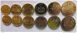 Lesotho Set Of 6 Coins 1998-2010 (10+20+50 Lisente + 1 Loti + 2+5 Maloti) UNC - Lesotho