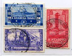 010> ITALIA 1931 Serie Completa ACCADEMIA NAVALE LIVORNO = Valore Catalogo € 14.00 Circa - Usati