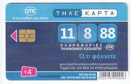 Telefonkarte Griechenland  Chip OTE  Karten  Nr . 3698   Aufl. 920.000 St. - Greece