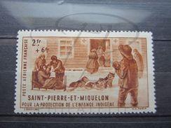 VEND BEAU TIMBRE DE POSTE AERIENNE DE SAINT-PIERRE ET MIQUELON N° 2 , X !!! - Poste Aérienne