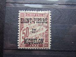 VEND BEAU TIMBRE TAXE DE SAINT-PIERRE ET MIQUELON N° 16 , X !!! - Timbres-taxe