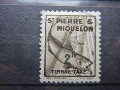 VEND BEAU TIMBRE TAXE DE SAINT-PIERRE ET MIQUELON N° 40 , X !!! - Timbres-taxe