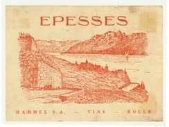 Rare // Epesses, Hammel S.A. Vins, Rolle, Vaud // Suisse - Etiquettes
