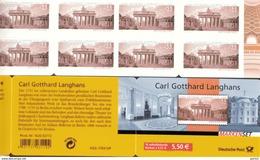 Markenheftchen Bund Postfr. MH 70 Langhans MNH ** - [7] West-Duitsland
