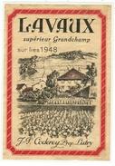 Rare // Lavaux Supérieur Grandchamp Sur Lies 1948, J.P. Coderey Lutry, Vaud // Suisse - Etiquettes