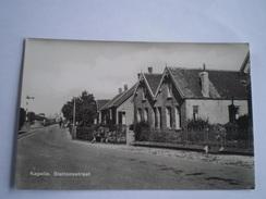 Kapelle (Zld.) Stationsstraat // Gelopen Spoorstempel 1950 - Netherlands