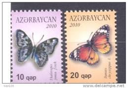 2010. Azerbaijan, Butterflies I, 2v, Mint/** - Azerbaïjan