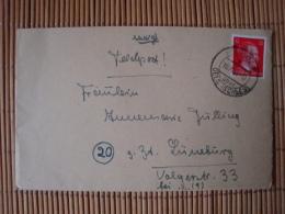Feldostbrief 2. Weltkrieg Mit Inhalt, Von Breslau L 54 155/c, Abgestempelt In Spahlitz/Oels, Nach Lüneburg 10.10.44 ! - Deutschland