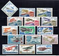 BC  Monaco  N° 637 à 651  Avion  Neuf  XX  MNH  Cote 17,50€ - Monaco