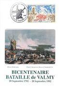 51 Carte Maximum Bicentenaire De La Bataille De VALMY 1992 - Otros Municipios