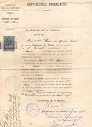 Commission De DEBITANT DE TABAC - Mme Vve BECU Née GAUTIER, Est Nommée Dans La Commune De Saint  Corneille (Sarthe) 1899 - Decrees & Laws