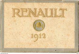 CATALOGUE AUTOMOBILES ET AVIATION RENAULT 1912 40 Pages BOULOGNE BILLANCOURT - Voitures De Tourisme