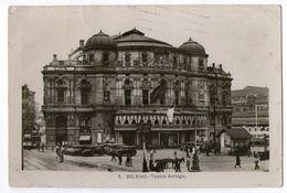 CPA   BILBAO       1935      TEATRO ARRIAGA     VIEILLES VOITURES - Vizcaya (Bilbao)