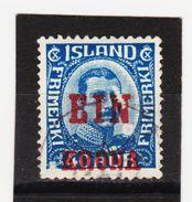 MAG1326  ISLAND 1926  Michl  121  Used / Gestempelt  ZÄHNUNG Siehe ABBILDUNG - 1918-1944 Unabhängige Verwaltung