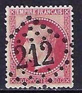"FR YT 32 "" Napoléon III Lauré 80c. Rose "" GC 212 AUCH - 1863-1870 Napoleon III With Laurels"