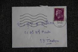 Enveloppe Timbrée De TOULON à TOULON - France