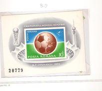ROMANIA POSTA ROMANA  FIFA WORLD CUP 1974 GERMANY 1974 - 1974 – Germania Ovest