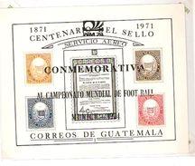 GUATEMALA CENTENARIO DEL SELLO OVERPRINTED  FIFA WORLD CUP 1974 GERMANY 1974 - Coppa Del Mondo