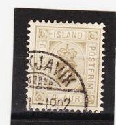 MAG1337  ISLAND 1900  Michl  9  DIENST  Used / Gestempelt  ZÄHNUNG Siehe ABBILDUNG - Dienstpost
