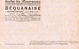 TOUTES LES ASSURANCES  SEQUANAISE - Buvards, Protège-cahiers Illustrés