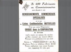 RENSEIGNEMENTS COMMERCIAUX SPECIALISES - Blotters
