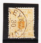 MAG1338  ISLAND 1876  Michl  3 A  DIENST  Used / Gestempelt  ZÄHNUNG Siehe ABBILDUNG - Dienstpost