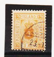 MAG1340  ISLAND 1876  Michl  3 B  DIENST  Used / Gestempelt  ZÄHNUNG Siehe ABBILDUNG - Dienstpost