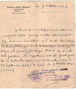 VP10.784 - Police - Lettre - Docteur Henri MOUNOT à PARIS Cité Du Retiro - Police
