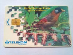 Malaysia Phonecard Silver Eared Mesta RM20 - Uccelli