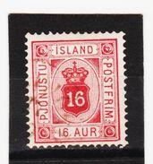 MAG1342  ISLAND 1876  Michl  6 A  DIENST  Used / Gestempelt  ZÄHNUNG Siehe ABBILDUNG - Dienstpost