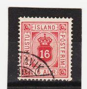 MAG1343  ISLAND 1876  Michl  6 A  DIENST  Used / Gestempelt  ZÄHNUNG Siehe ABBILDUNG - Dienstpost