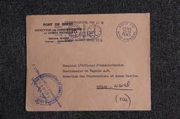 Enveloppe Du Port De BREST ( Direction Des Constructions Navales ) à TOULON - Altri