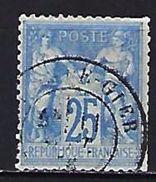"""FR YT 68 """" Sage 25c. Outremer """" CAD Rive De Gier - 1876-1878 Sage (Type I)"""