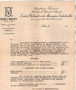 VP10.785 - Document Commercial - Ecole D'Electricité Et De Mécanique Industrielles VIOLET à PARIS - Electricity & Gas