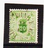 MAG1344  ISLAND 1876  Michl  7 A  DIENST  Used / Gestempelt  ZÄHNUNG Siehe ABBILDUNG - Dienstpost