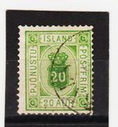 MAG1346  ISLAND 1876  Michl  7 A  DIENST  Used / Gestempelt  ZÄHNUNG Siehe ABBILDUNG - Dienstpost