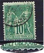 "FR YT 76 "" Sage 10c. Vert "" CAD De L'Oise - 1876-1898 Sage (Type II)"