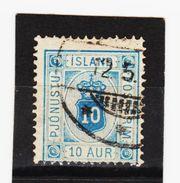 MAG1348  ISLAND 1876  Michl  5 A  DIENST  Used / Gestempelt  ZÄHNUNG Siehe ABBILDUNG - Dienstpost