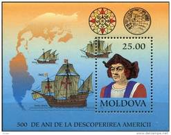 Moldavie Moldova 1992 Yvertn° Bloc 3 *** MNH Cote 6 Euro Columbus - Moldavie