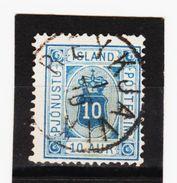 MAG1349  ISLAND 1876  Michl  5 A  DIENST  Used / Gestempelt  ZÄHNUNG Siehe ABBILDUNG - Dienstpost