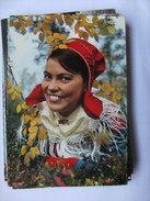 Finland Suomi Lappi Lapland Nice Girl In Traditional Clothes - Finland