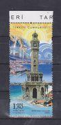 AC- TURKEY STAMP - HISTORICAL CLOCK TOWERS IZMIR CLOCK TOWER MNH IZMIR 09 SEPTEMBER 2017 - 1921-... República
