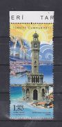 AC- TURKEY STAMP - HISTORICAL CLOCK TOWERS IZMIR CLOCK TOWER MNH IZMIR 09 SEPTEMBER 2017 - 1921-... République