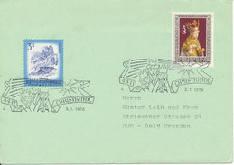 Austria Cover Christkindl 3-1-1978 Sent To Germany (the Flap On The Backside Of The Cover Is Missing) - 1945-.... 2ème République