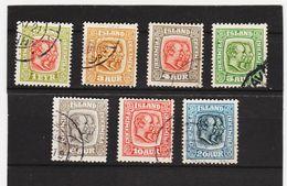 MAG1403  ISLAND 1915  Michl  76/82  SATZ  WZ 3 Used / Gestempelt  ZÄHNUNG Siehe ABBILDUNG - 1873-1918 Dänische Abhängigkeit