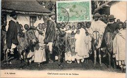AFRIQUE -- SOMALIE -- Chef Abyssin Escorté De Ses Soldats - Somalia