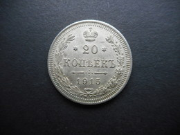 Russia-Empire 20 Kopeks 1915 Nikolai II - Russie