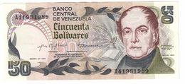 Venezuela 50 Bolivares 27/01/1981 Light Central Fold XF+/AUNC - Venezuela