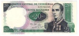 Venezuela 20 Bolivares  20/10/1987 Commemorative UNC - Venezuela