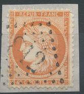 Lot N°36766  Variété/n°38/fragment, Oblit GC 812 CERET (65), Ind 4, Fond Ligné Horizontal, Filet OUEST - 1870 Siege Of Paris